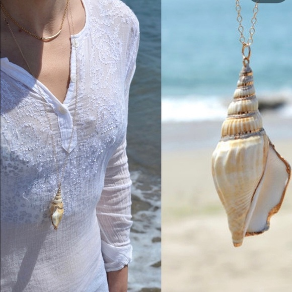 Jewelry Fashion Conch Shell Long Necklace Poshmark